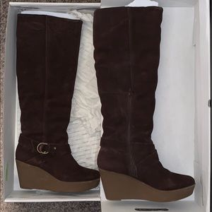 Like new ALDO Suede knee height wedge winter boots